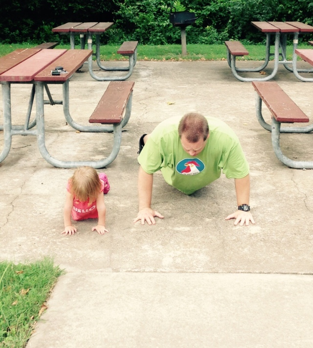 josie and me pushups 8-23-16